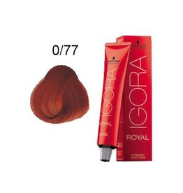 Schwarzkopf #0-77 Copper Concentrate - Royal IGORA Schwarzkopf Permanent Color Creme