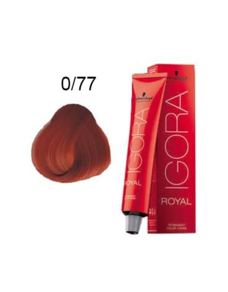 Schwarzkopf #0-77 Copper Concentrate - Royal IGORA Schwarzkopf Permanent Color Creme