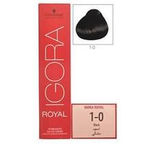#1-0 Black - Royal IGORA Schwarzkopf Permanent Color Creme