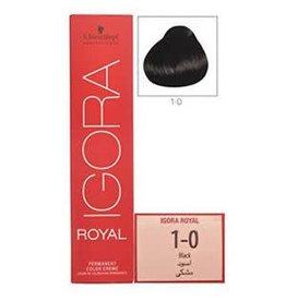 Schwarzkopf #1-0 Black - Royal IGORA Schwarzkopf Permanent Color Creme