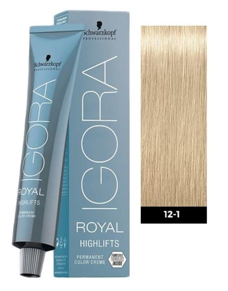 Schwarzkopf #12-1 Special Blonde Cendre - Royal Highlifts IGORA Schwarzkopf Permanent Color Creme