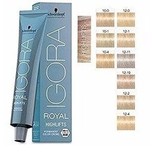 #12-2 Special Blonde Ash - Royal Highlifts IGORA Schwarzkopf Permanent Color Creme