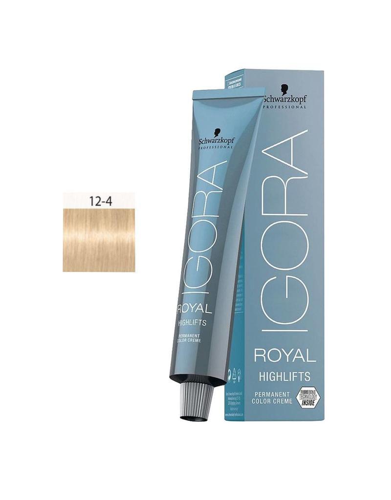 Schwarzkopf #12-4 Special Blonde Beige - Royal Highlifts IGORA Schwarzkopf Permanent Color Creme