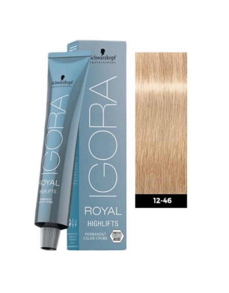 Schwarzkopf #12-46 Special Blonde Beige Chocolate - Royal Highlifts IGORA Schwarzkopf Permanent Color Creme
