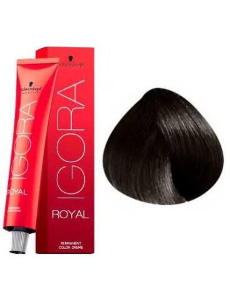 Schwarzkopf #3-0 Dark Brown 60 g- Royal IGORA Schwarzkopf Permanent Color Creme
