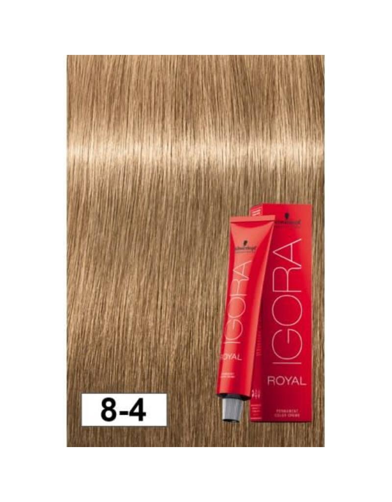 Schwarzkopf #8-4 Light Blonde Beige - Royal IGORA Schwarzkopf Permanent Color Creme