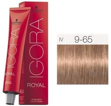 #9-65 Extra Light Blonde Chocolate Gold 60g - Royal IGORA Schwarzkopf Permanent Color Creme