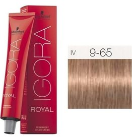 Schwarzkopf #9-65 Extra Light Blonde Chocolate Gold 60g - Royal IGORA Schwarzkopf Permanent Color Creme