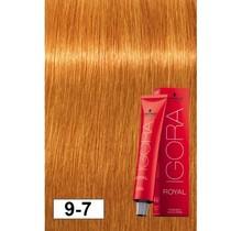 #9-7 Extra Light Blonde Copper 60g - Royal IGORA Schwarzkopf Permanent Color Creme