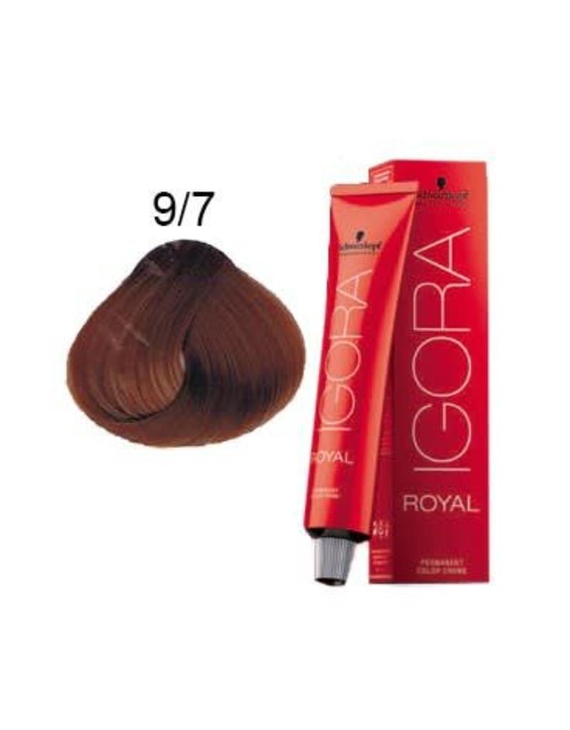 Schwarzkopf #9-7 Extra Light Blonde Copper 60g - Royal IGORA Schwarzkopf Permanent Color Creme