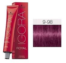 #9-98 Extra Light Blonde Violet Red 60g - Royal IGORA Schwarzkopf Permanent Color Creme