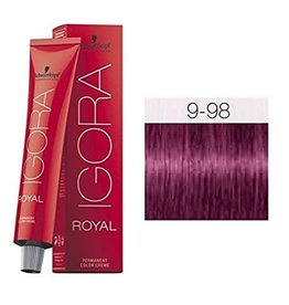 Schwarzkopf #9-98 Extra Light Blonde Violet Red 60g - Royal IGORA Schwarzkopf Permanent Color Creme