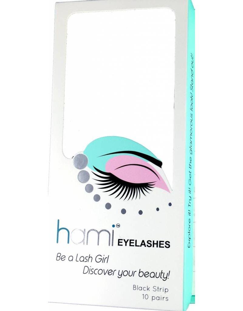 #01 Hami Eyelashes - Black strip 10 pairs Professional Fashion Lashes