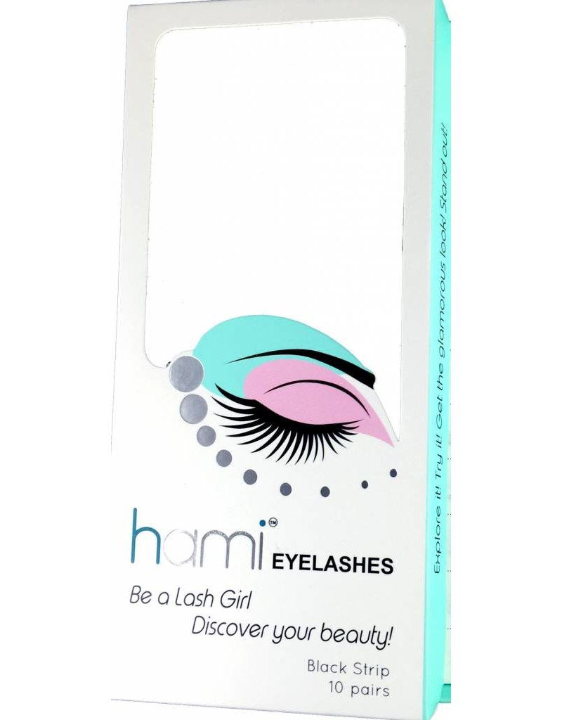#22 Hami Eyelashes - Black strip 10 pairs Professional Fashion Lashes