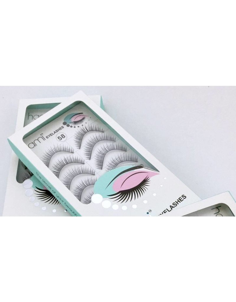 #58 Hami Eyelashes - Black strip 10 pairs Professional Fashion Lashes