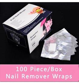 Remover Foil Nail Wraps 100 pieces