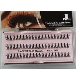 J Fashion Lashes - Flare Medium Black Knot Free (L)