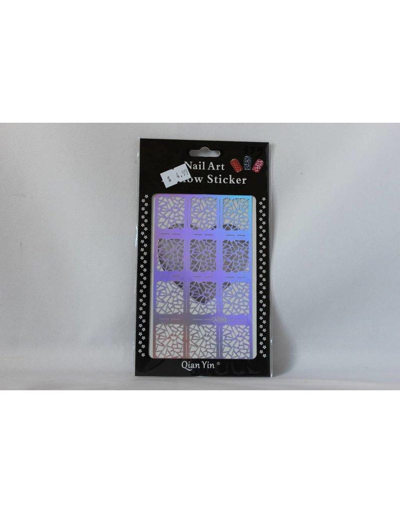 JV206 Silver (340) Nail Sticker 4.99
