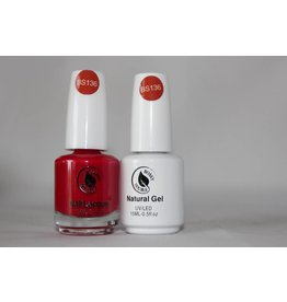 Bossy Gel Bossy Gel Duo - Gel Polish + Nail Lacquer (15 ml) # BS136