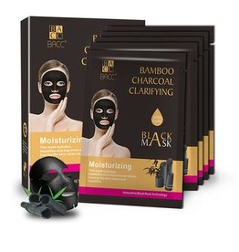 BACC Bamboo Charcoal Clarifying BlackMask Moiturizing 25ml x 10 pcs