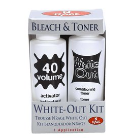 Bleach & Toner - White Out conditioning toner & 40 volume activator