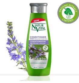 Natur Vital Conditioner Sensitive Hypoallergenic 300ml Moisturises & adds shine