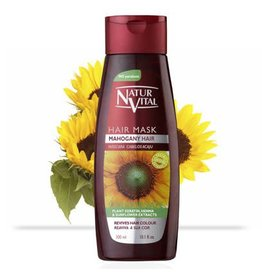 Natur Vital Hair Mask, Mahogany Hair, Color Safe, Revives Hair Colour 300ml
