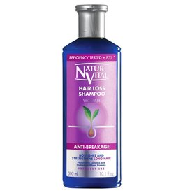 Natur Vital Hair Loss Shampoo Woman Anti-Breakage Nourishes & Stregthens Long Hair,  Phytoactive Complex & Hydrolized Wheat Proteins 300ml