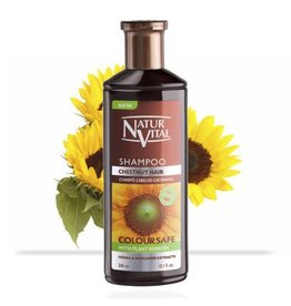 Natur Vital Shampoo Chesnut Hair, Color Safe, Henna & Sunflower Extracts 300ml