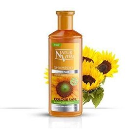 Natur Vital Shampoo Blonde Hair, Color Safe,Henna & Sunflower Extracts 300ml