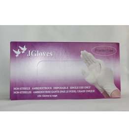 JGloves -  Powder Free Latex Gloves (Small) - 100 gloves/box by weight