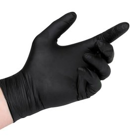 Glove Nitrile M (Medium) - black - 100 gloves/box by weight