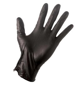 Glove Nitrile S (Small) - black - 100 gloves/box by weight