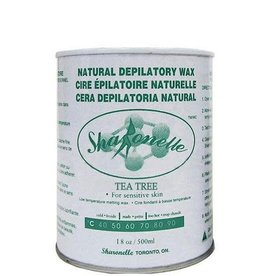 Sharonelle Sharonelle Natural Depilatory Wax - Tea Tree-18 oz 500 ml for sensitive skin