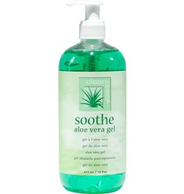 clean+easy clean+easy soothe aloe vera gel for post-wax relief 473 ml 16 oz