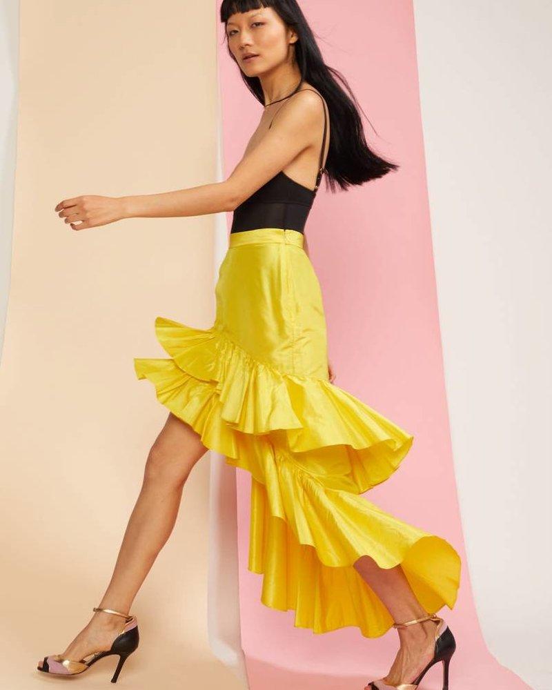Cynthia Rowley Camila High Low Tiered Ruffle Skirt