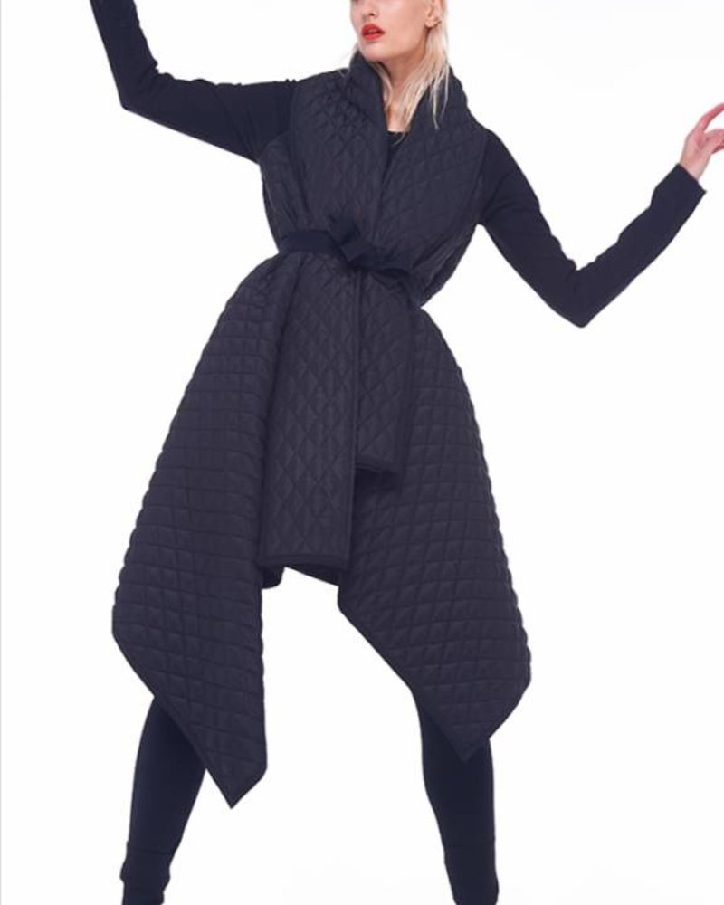 Norma Kamali Quilted Blanket Coat