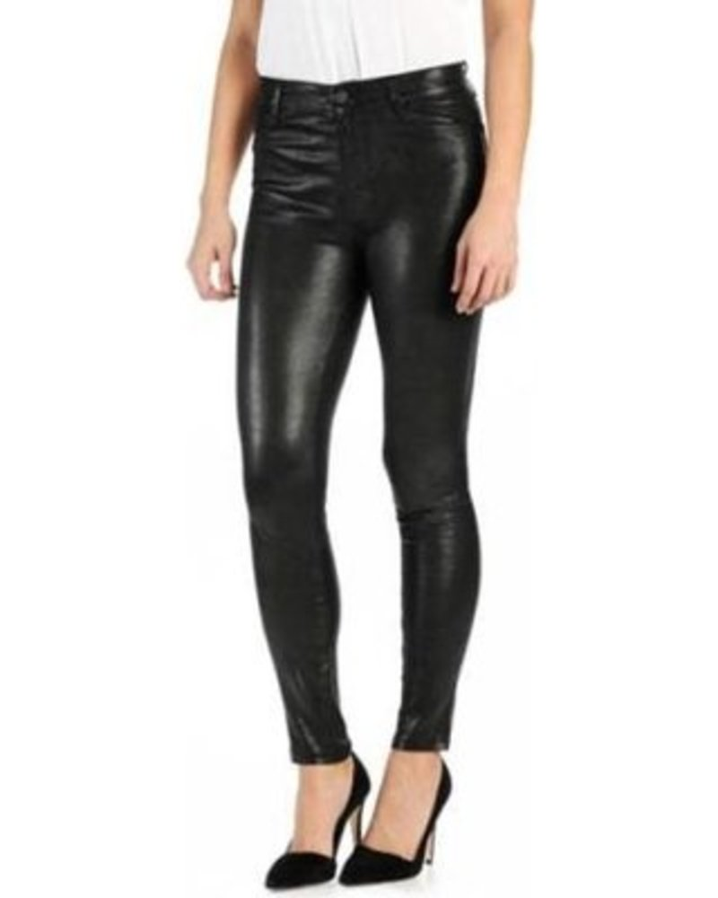 PAIGE Hoxton Stretch Leather Pant - Black