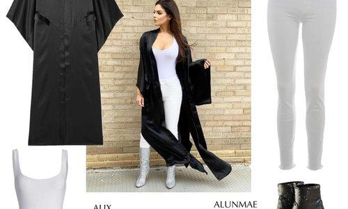 Black Kimono Look