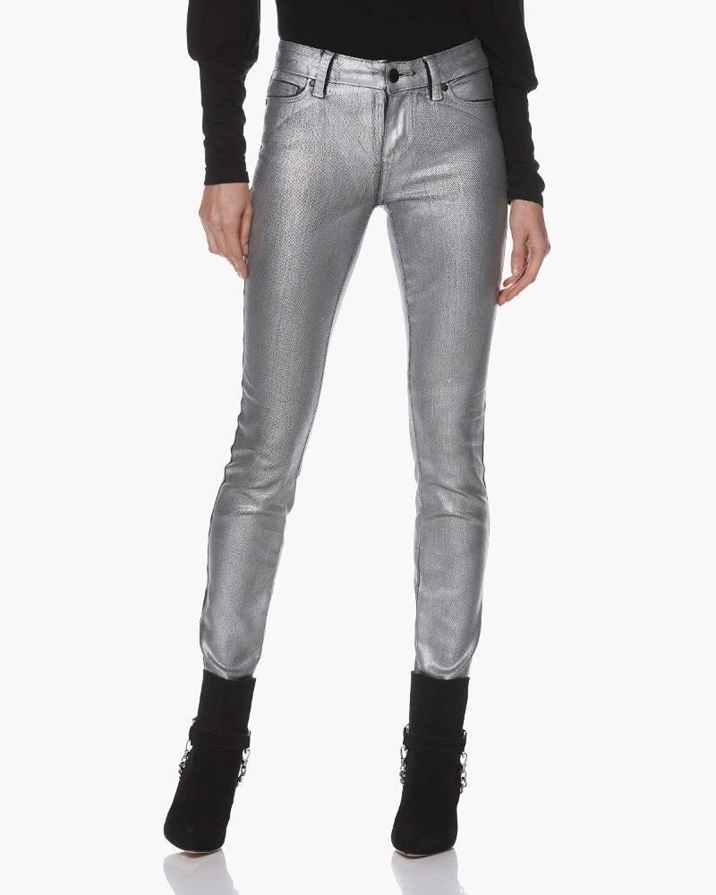 PAIGE Verdugo Ultra Skinny - Silver Galaxy Coating