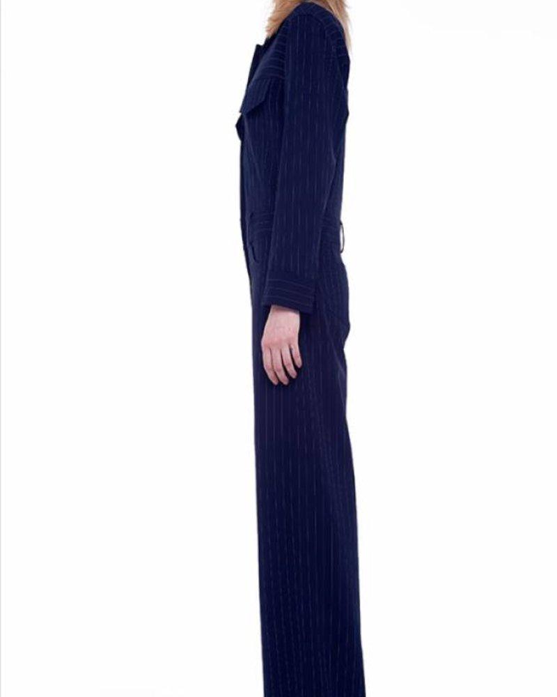 Norma Kamali Oversized Jeans Jumpsuit