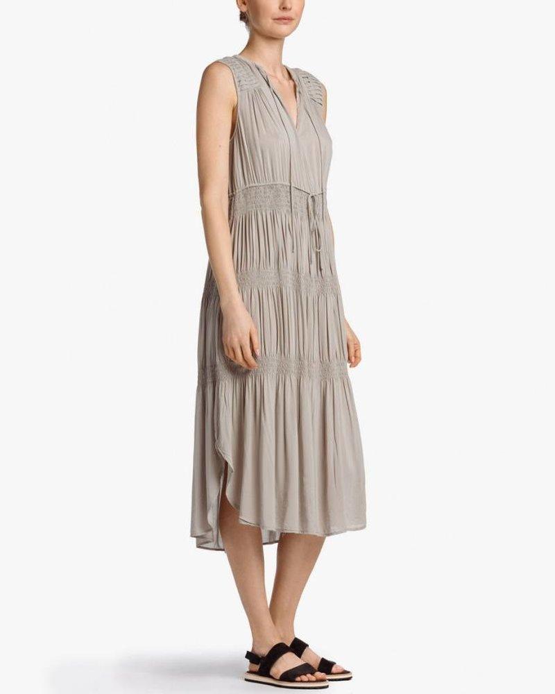 PLEATED CHIFFON SUN DRESS