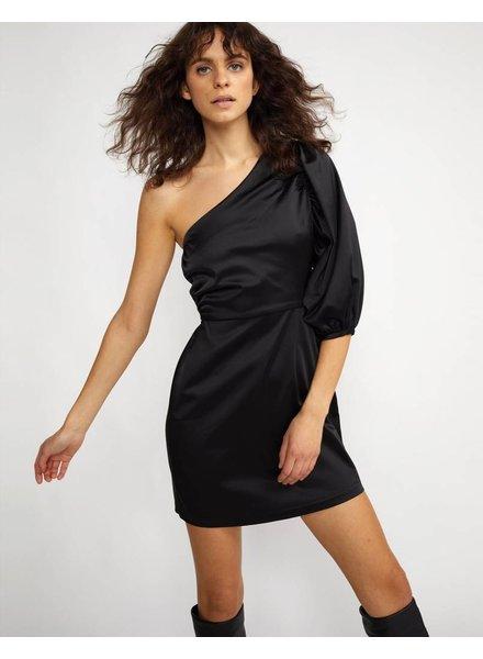 Cynthia Rowley MONTROSE Stretch Satin one shoulder mini dress
