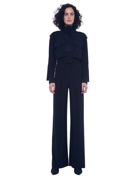 Norma Kamali High Waist Pleat Pant