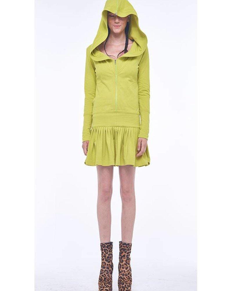 Norma Kamali Zip Hood Hoodie Rara Dress