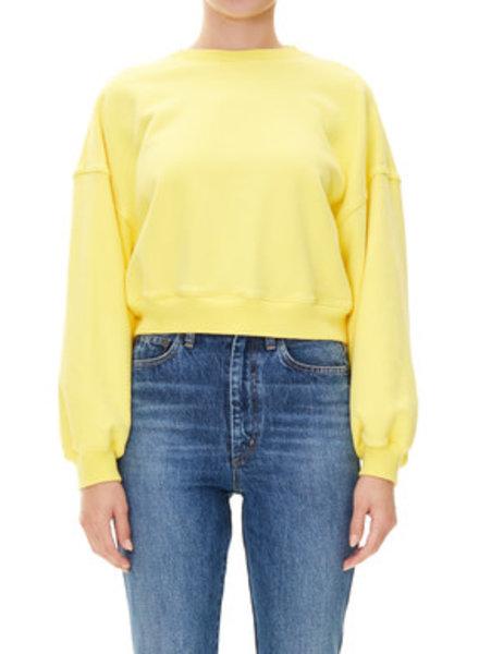 Agolde Balloon Sleeve Cropped Sweatshirt