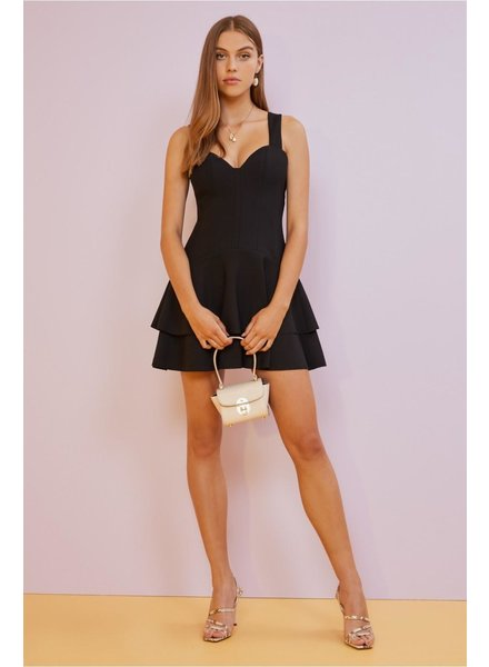 Finders Keepers Lines Mini Dress