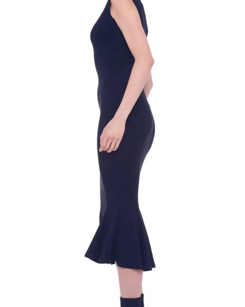 Norma Kamali Sleeveless Fishtail Midcalf Dress