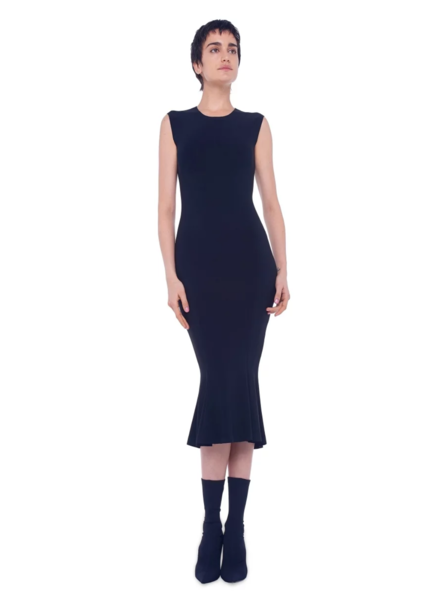 Norma Kamali Sleeveless Fishtail Midcalf Dress