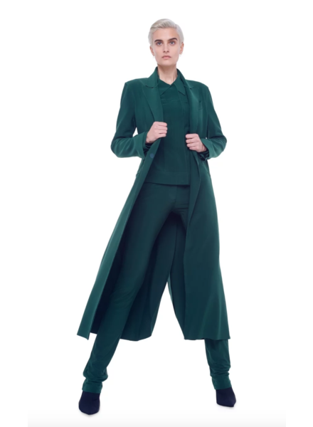 Norma Kamali Double Breasted Coat Dress